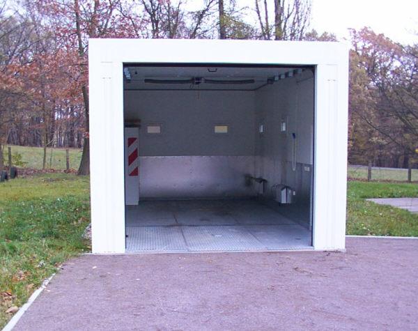 Containergarage garage von schmidt container hochwertige for Garage prefabrique beton en kit