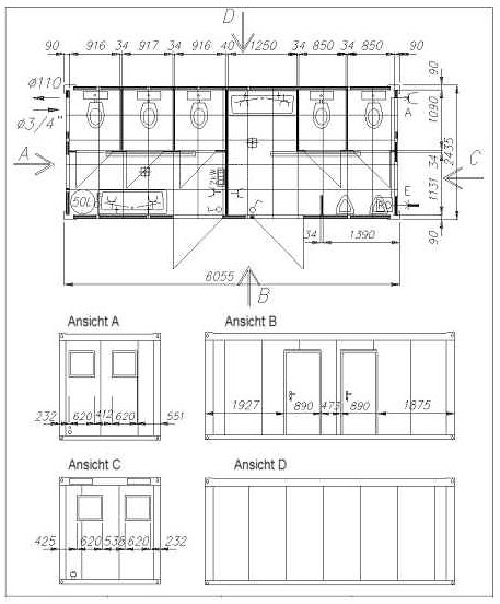 Sanitärcontainer Von Schmidt Container Toilettencontainer
